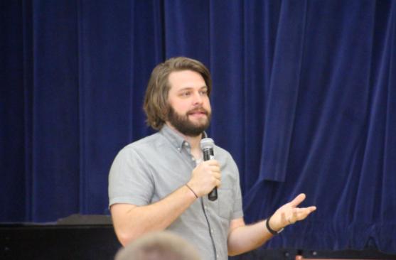 OP Welcomes Guest Speaker Kyle Scheele