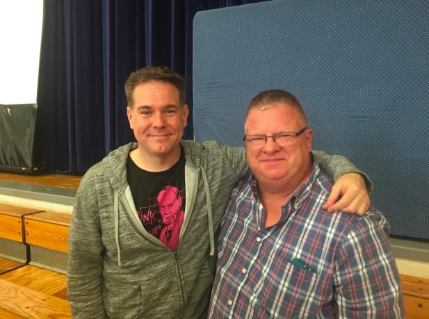 Actor+James+Mount+and+Mr.+Van+Hoven+
