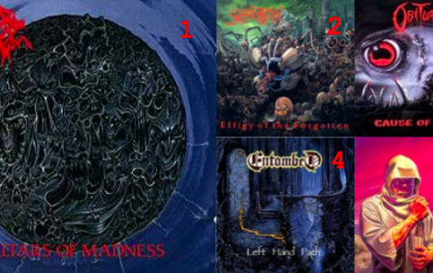 """Top 5 Old School Death Metal Albums"""