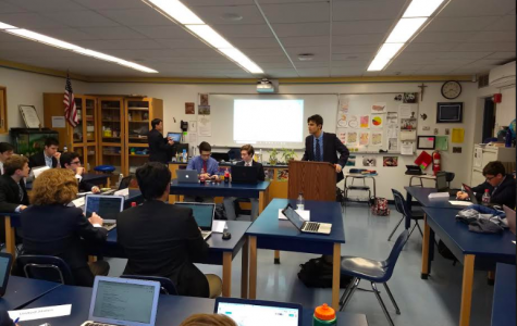 OP students participate in OPMUNC where they simulated a United Nations Special Political and Decolonization Committee on the Israel-Palestine conflict.