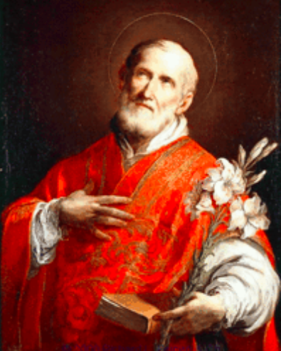 Painting of St. Philip Neri done by Sebastiano Conca