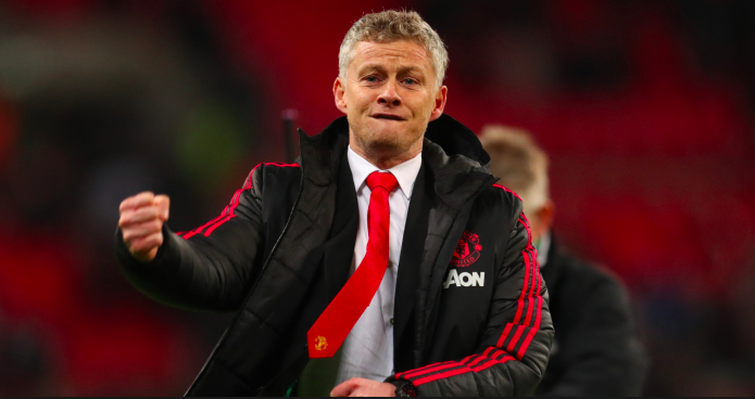 Manchester United's new coach Ole Gunnar Solskjær