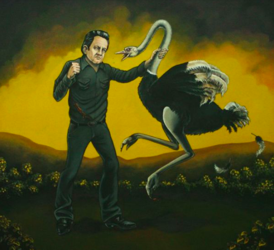Johnny Cash vs. An Ostrich