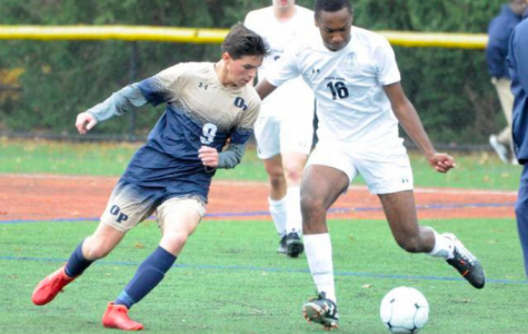 #9 Junior Douglas Colendrea during the game, scorer of OP's lone goal during the first round of the state tournament.