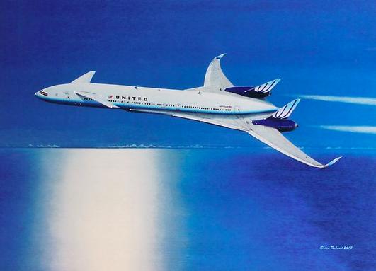 Featured here is Boeing's Sonic Cruiser, a supersonic jet prototype of theirs developed in 2001 but never constructed.
