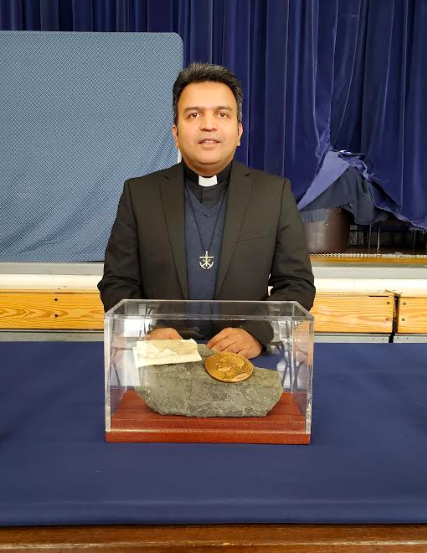 Father Jomon Brings a Saint's Relic to OP