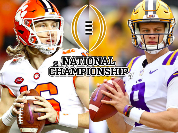 Left: Trevor Lawrence of Clemson, Right: Joe Burrow of LSU